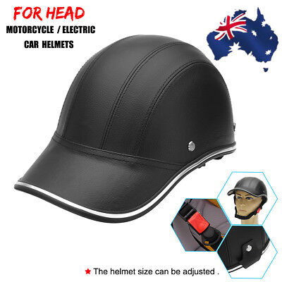 AU Motorcycle Motor Bike Scooter Half Open Face Helmet Skull Baseball Cap Hat
