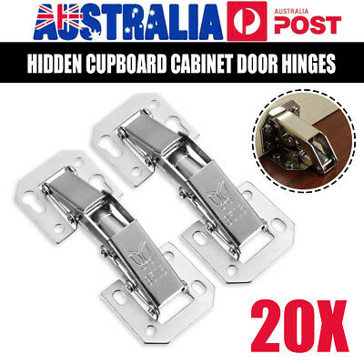 2/10/20pcs Door Hinge Cabinet Cupboard Hinges Soft Close Full Overlay Wardrobe
