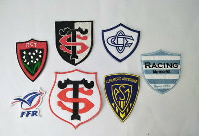ecusson patch rugby top 14 asm clermont castre racing metro toulon rct ffr