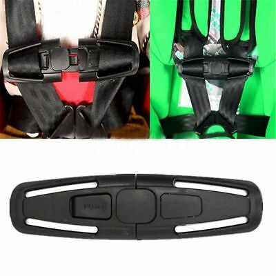 Baby Car Safety Seat Strap Child Toddler Chest Harness Clip Safe Buckle Black