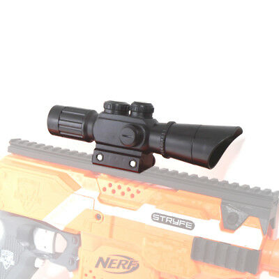Tactical Black Scope Sight for Worker Picatinny Rail Mount Nerf Modify Toy