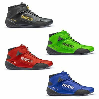 Sparco Cross RB-7 FIA Approved Leather Race / Rally Boots Blue - UK 5.5 / Eur 39