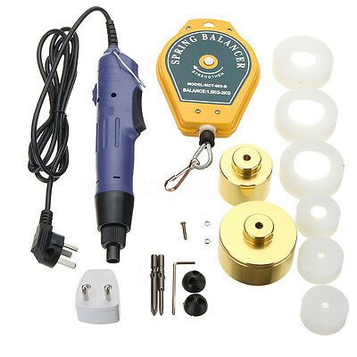 220V HandHeld Electric Capping Manual Bottle Cap Sealing Sealer Machine 10-50MM