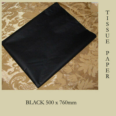 60 Black Gift Wrapping Tissue Paper Craft Post Packing 500x750mm AUSTRALIA NEW
