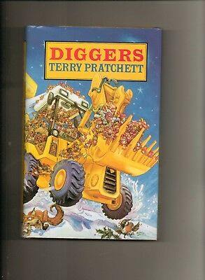Diggers (1st Edition in d/w) - signed by Terry Pratchett - nr Mint copy