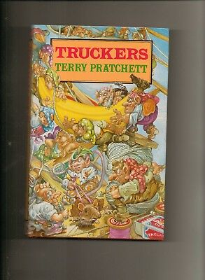 Truckers (1st Edition in d/w) - signed by Terry Pratchett - nr Mint copy