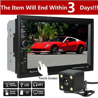 7'' Double 2 DIN Android WIFI Bluetooth GPS Car MP5 Player Head Unit GPS Sat Nav