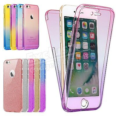 For iPhone 8 7 6s 5s XR XS 360° Case Shockproof Silicone Protective Clear Cover
