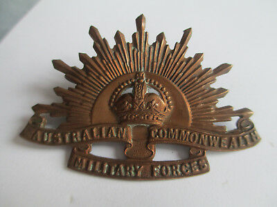 Australian Commonwealth Military Forces Bronze Cap Badge. Makers Stokes & Son