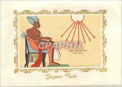 CPA Aten The Sun Disk With Rays Egypte