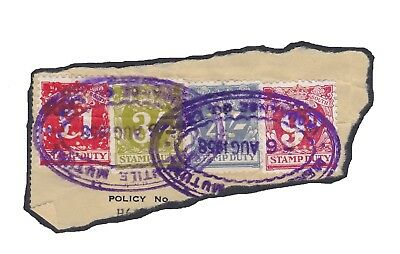 Australia, NEW SOUTH WALES, STAMP DUTY - used 4v total