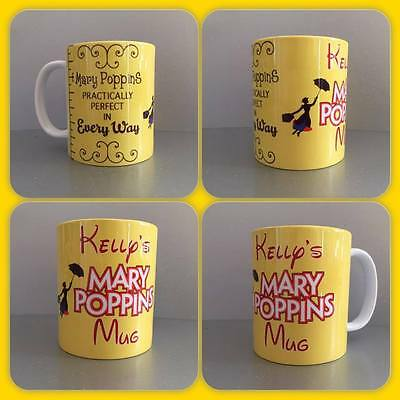 personalised mug cup mary poppins practically perfect measure julie andrews : )