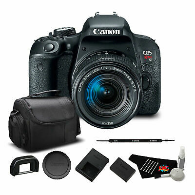 Canon EOS Rebel T7i DSLR Camera with 18-55mm Lens (1894C002) Bundle