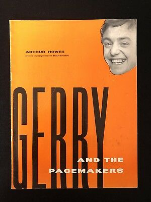 Original Vintage Gerry And The Pacemakers UK Tour Programme 1964