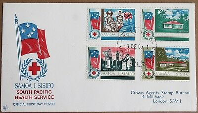 Samoa – 1967 S Pacific Health Service Set on FDC (Se8)