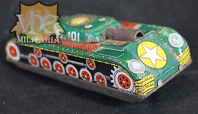 Antique Vintage Japanese Litho Tin Toy Tank
