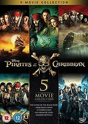 Pirates of the Caribbean 1-5 Boxset  with Johnny Depp New (DVD  2017)
