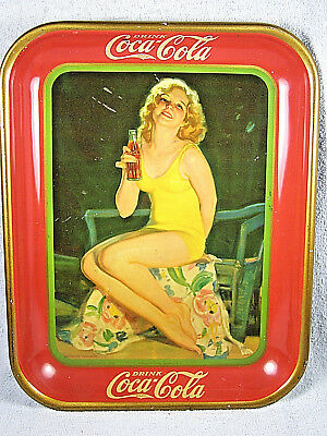 1932 Original Cola Cola Serving Tray