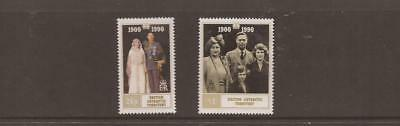 BRITISH ANTARTIC TERRITORY 1990 QUEEN MOTHER 90th BIRTHDAY MNH SET OF STAMPS