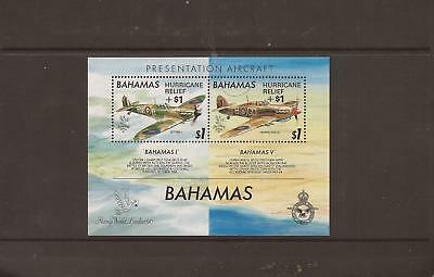 Bahamas 1992 Hurricane Relief M/sheet Mnh Stamps