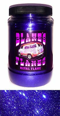 1lb Blakes Metal Flake .015 Canadian Blue Dark Hot Rod Custom Automotive