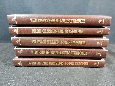 Lot of (5) The Louis L'Amour Leatherette Collection Books - Bantam Books #3