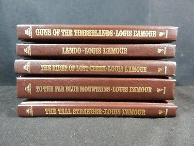 Lot of (5) The Louis L'Amour Leatherette Collection Books - Bantam Books #8