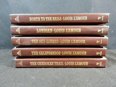 Lot of (5) The Louis L'Amour Leatherette Collection Books - Bantam Books #6