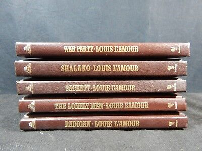 Lot of (5) The Louis L'Amour Leatherette Collection Books - Bantam Books #1