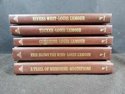 Lot of (5) The Louis L'Amour Leatherette Collection Books - Bantam Books #7
