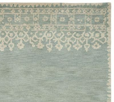 Pottery Barn Desa Bordered Rug 4 X 6 Blue New W Tags On Back