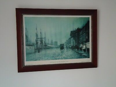 Large Old Liverpool Dock Road Framed Picture Print Custom House Nautical Ship