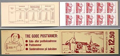 H47 Norway 1977 Buildings MNH stamp booklet Norwegen Bruksmarken: Byggnadsverk