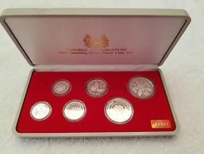 1985 Republic of Singapore Sterling Silver 6 Coin Proof Set