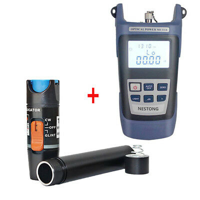 10KM 10mW High Precision Fiber Optical Power Meter + 10KM Test Pen Kit