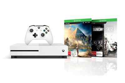 XB1 Xbox One Console S 1TB with Assassins Creed Origins and Rainbow Six Siege
