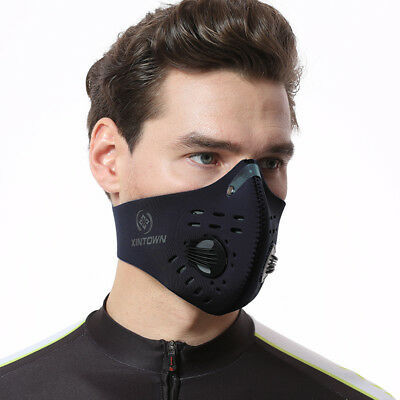 XINTOWN Men/Women Activated Carbon Dust-proof Cycling Face Mask Anti-Pollution