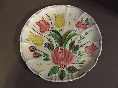 Vintage Blue Ridge Tulip Plate Southern Potteries Molded Shell Plate