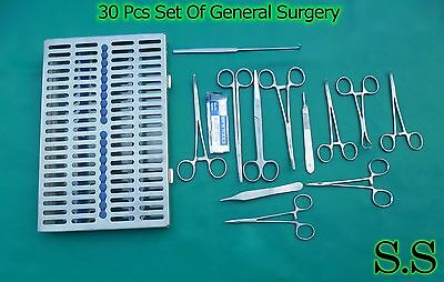 30-pcs General Surgery Set Veterinary Animal Hospital,Surgical Instrument DS-968