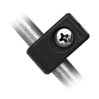 """Mocal T Clamp Single T Clips 4mm Hole For 7/16"""" Pipe In Black - 6 Pack"""