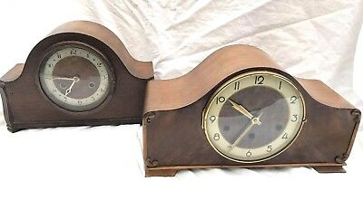 Vintage retro 8 day westminster chime gong mantle clocks 1950s