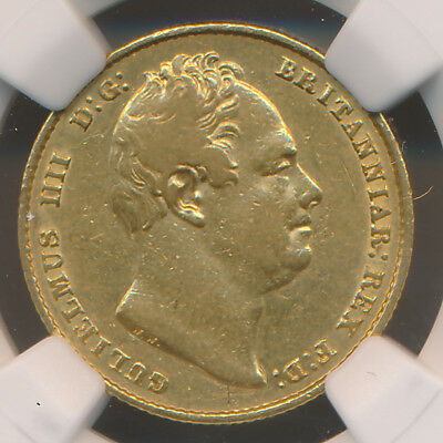 Great Britain William Iv Gold Sovereign 1837 Ngc Xf45