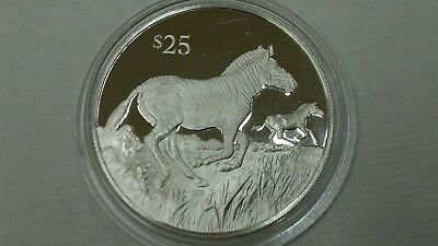 1993 British Virgin Islands Zebra Silver 925 Proof
