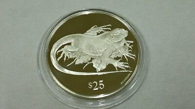 1993 British Virgin Islands Iguana Silver 925 Proof