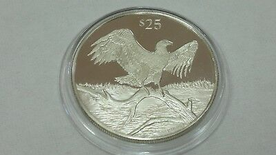 1993 British Virgin Islands Eagle Silver 925 Proof