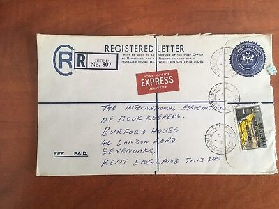 Postal History Nigeria 2 x Registered Covers 1984 to UK