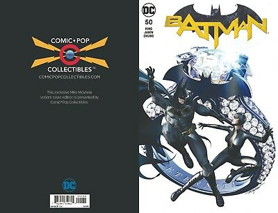 """(2018) BATMAN #50 MIKE MAYHEW COMIC POP ACTION """"BLING"""" VARIANT COVER Ltd to 1500"""