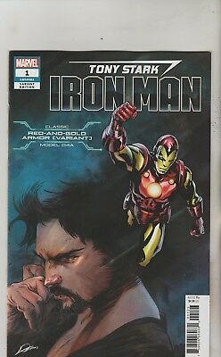 Marvel Comics Tony Stark Iron Man #1 August 2018 Red & Gold D4A Armor Variant Nm