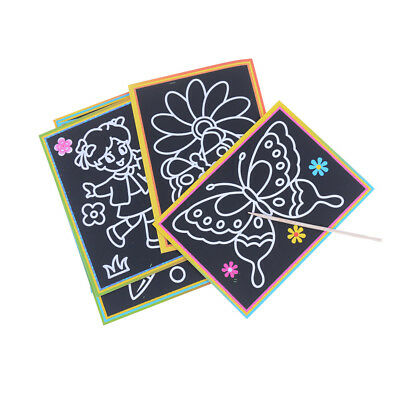 10pcs Magic Scraping Drawing Toys Two-in-One Coloring Pictures Children Painting