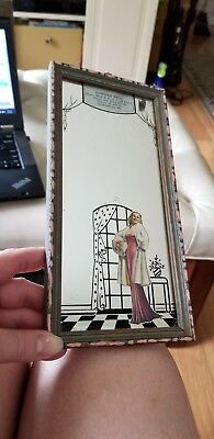 1930s Mirror with Glamour Girl
